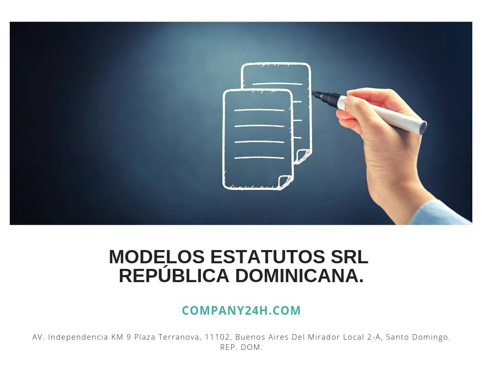 Modelos estatutos SRL República Dominicana.